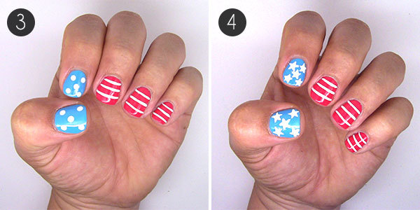 4th of july nails stars and stripes forever more easy or advanced 4th of july nail art prinsesfo Choice Image