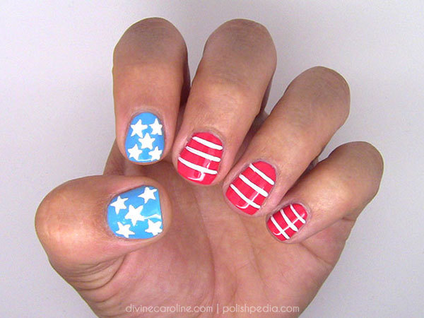 4th of july nails stars and stripes forever more easy or advanced 4th of july nail art prinsesfo Gallery