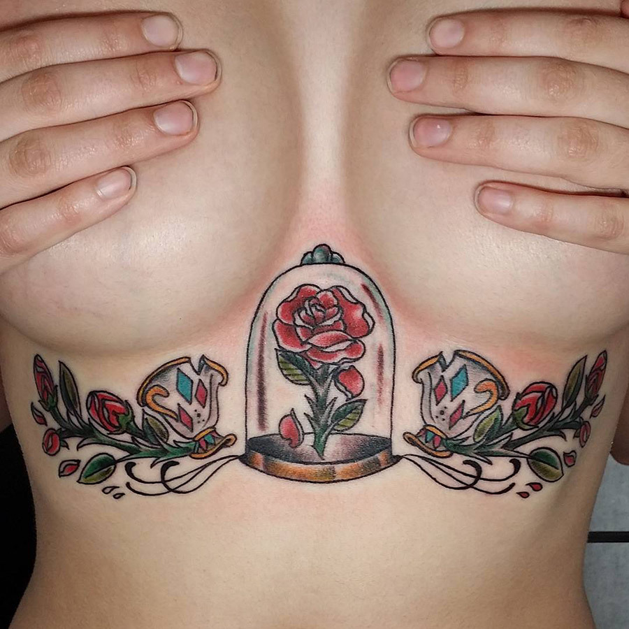 68be57a8315f7 22 Epic Tattoo Ideas That Prove Underboob Is The New Cleavage | more.com