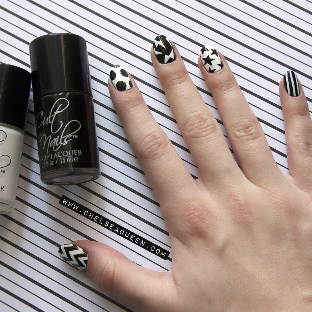 Nail Art Ideas edgy nail art : 22 Bold Black Nail Designs | more.com