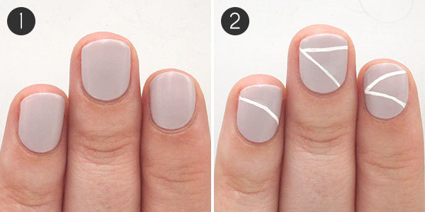 Bunting the easy nail design of the summer more bunting nails steps 1 2 prinsesfo Image collections