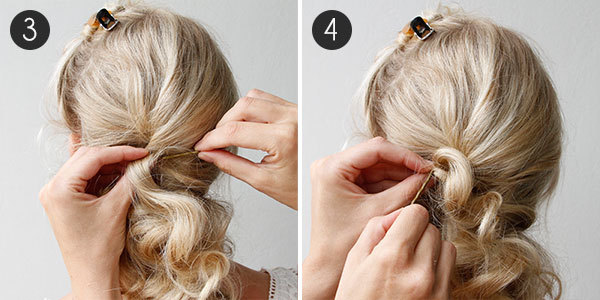 DIY Wedding Hair Steps 3 4