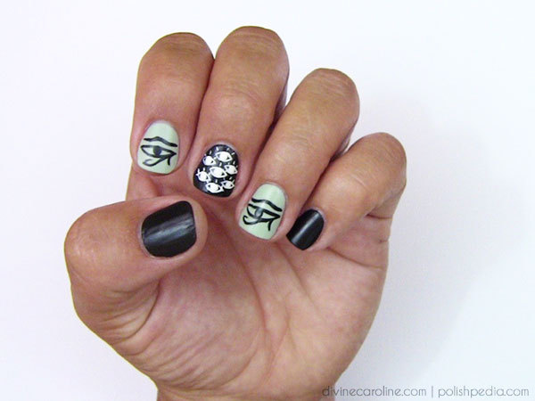 Egyptian Eye Nail Design - Eye-Catching Egyptian Nail Art Design Tutorial More.com