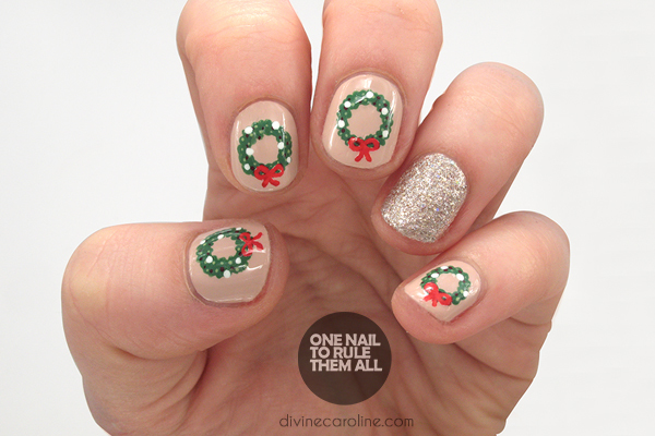 Festive christmas nails to get you in the holiday spirit more festive holiday nail design prinsesfo Image collections