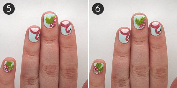 This flamingo and floral nail art is the perfect poolside mani steps 56 prinsesfo Choice Image