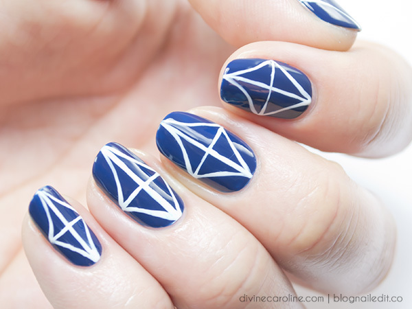 Geometric nail art a kitchen tile pattern that wows more geometric nail art prinsesfo Images