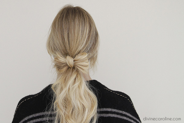 Low Ponytail with a Bow