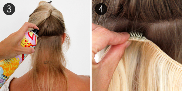How to use clip in hair extensions more how to use clip in extensions pmusecretfo Choice Image
