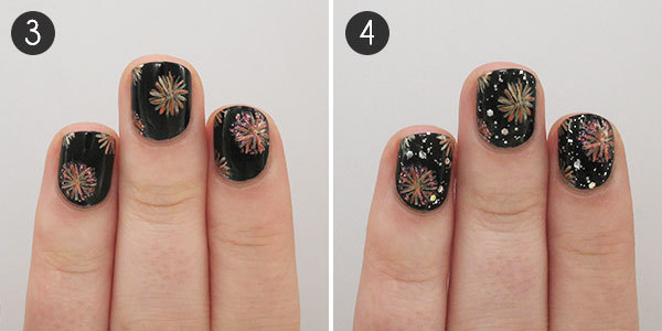 Fireworks Nail Art - Light Up The Night With These Fireworks Nails More.com