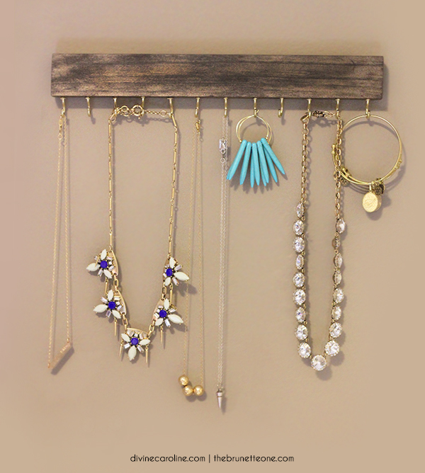 Make Your Own Necklaces And Jewelry At Home: Make Your Own Wall-Mounted Jewelry Holder