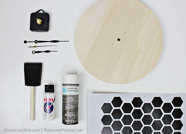 Make Your Own: Honeycomb DIY Wall Clock | more.com