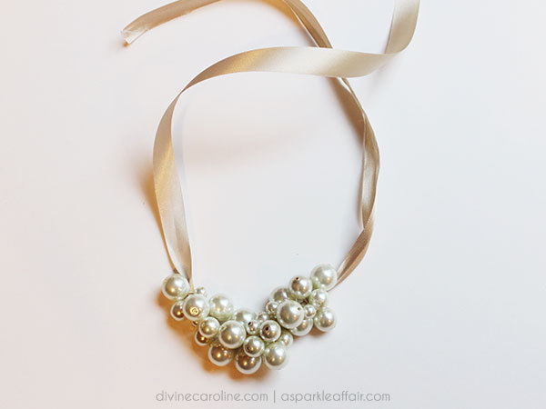 make your own pearl cluster necklace more