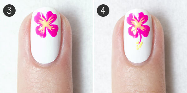 Nail how to totally tropical nail design more tropical flower nails prinsesfo Gallery