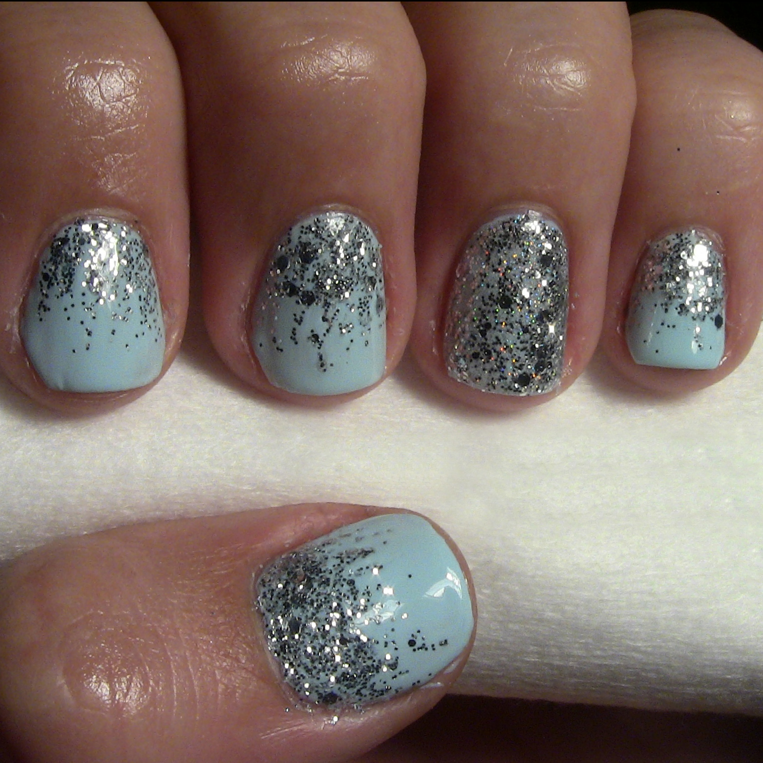 the gallery for gt white glitter ombre nails