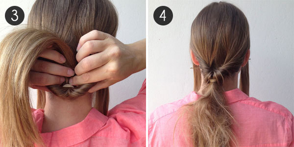 Party Hair: The Low Bun: Steps 3 and 4