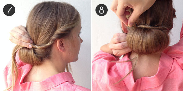 Party Hair: The Low Bun: Steps 7 and 8