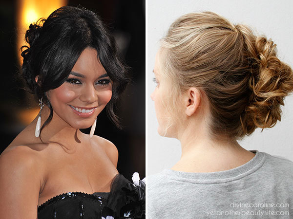 Wondrous Party Hair Try This Vanessa Hudgens Inspired Updo More Com Hairstyles For Women Draintrainus