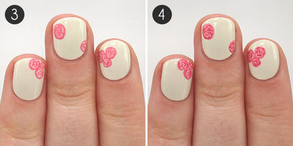 The perfect polka dot and floral nails to celebrate valentines valentine prinsesfo Choice Image