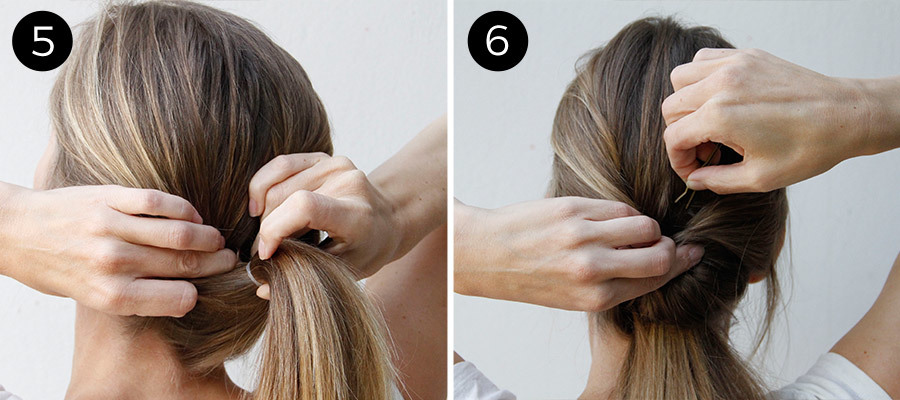 Double Twist Ponytail Steps 5 & 6