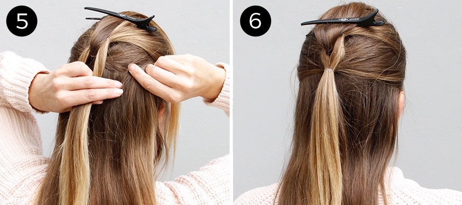 Half-Up Pull Through Braid Steps 5 & 6