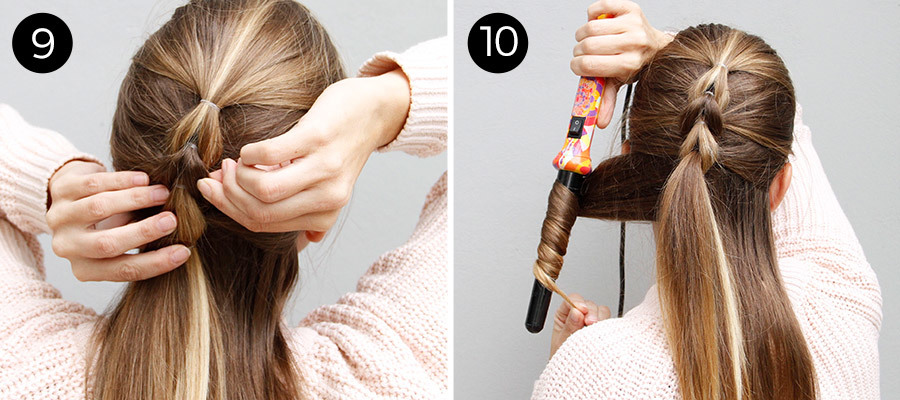 Half-Up Pull Through Braid Steps 9 & 10