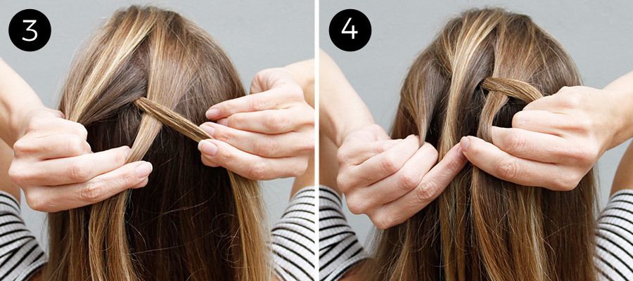 Dutch Braid Bun Steps 3 & 4
