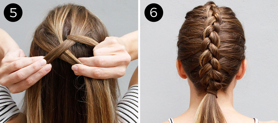 Dutch Braid Bun Steps 5 & 6