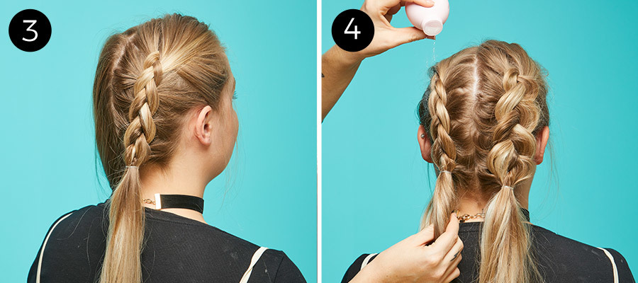 Braided Pigtails Steps 3 & 4