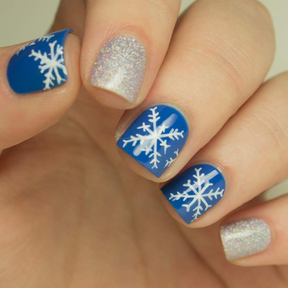 Nail art how to snowflake design more prinsesfo Image collections