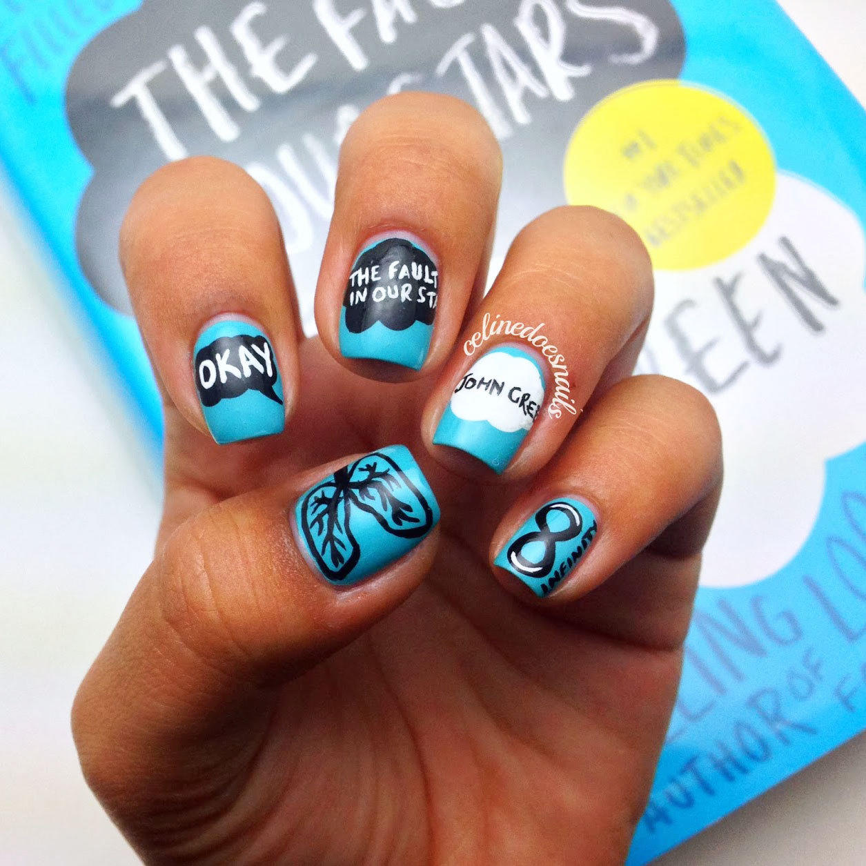 16 book inspired nail art designs more prinsesfo Image collections