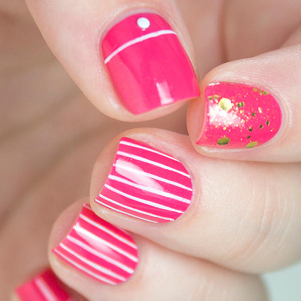 20 pretty in pink nail designs more prinsesfo Image collections