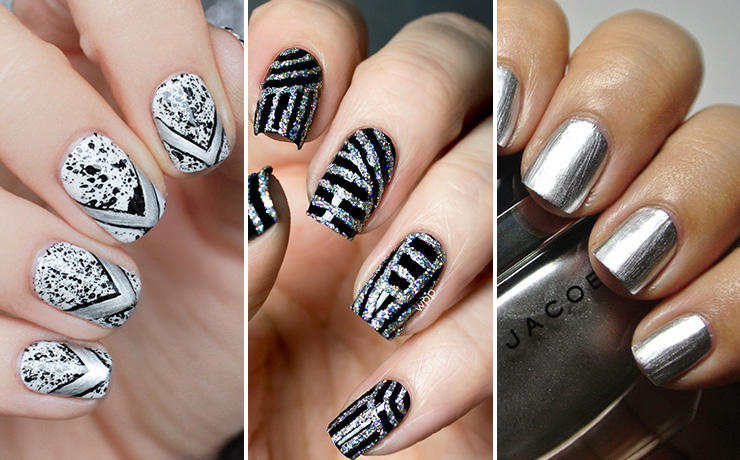 Sleek and chic silver nail designs more prinsesfo Choice Image