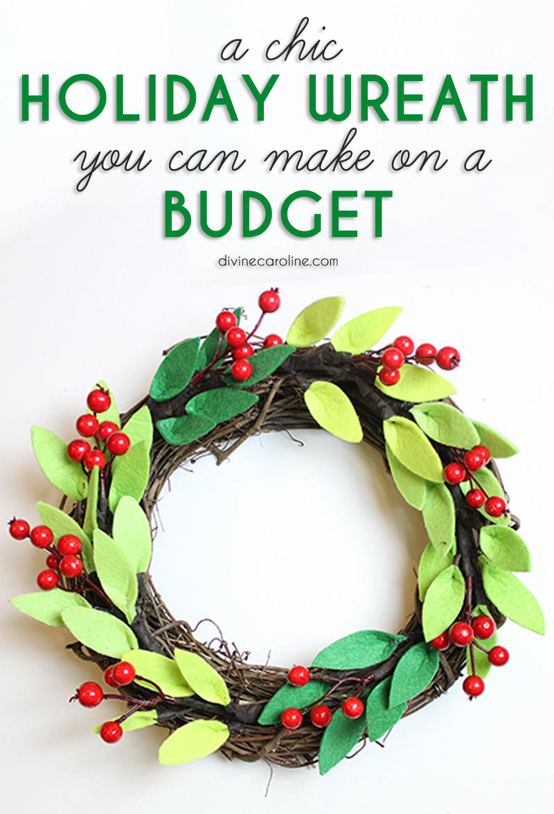 a chic christmas wreath you can make on a budget more com