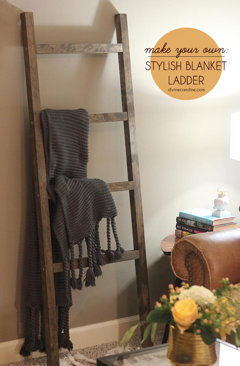 The diy blanket ladder even a tool newbie can make for Decor ladder