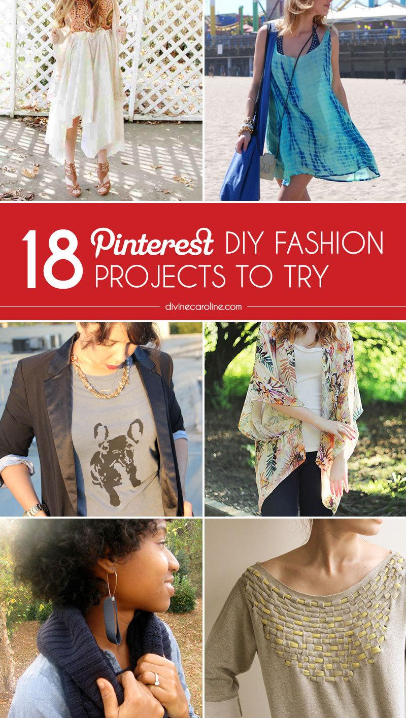 Pinterest Style: 18 DIY Fashion Projects to Bookmark ...