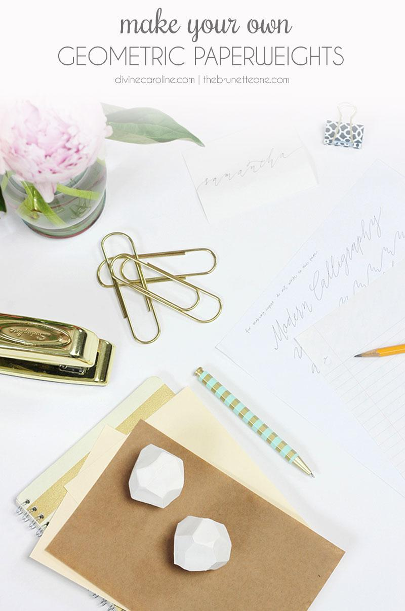 DIY Home Decor: Make Your Own Geometric Paperweight