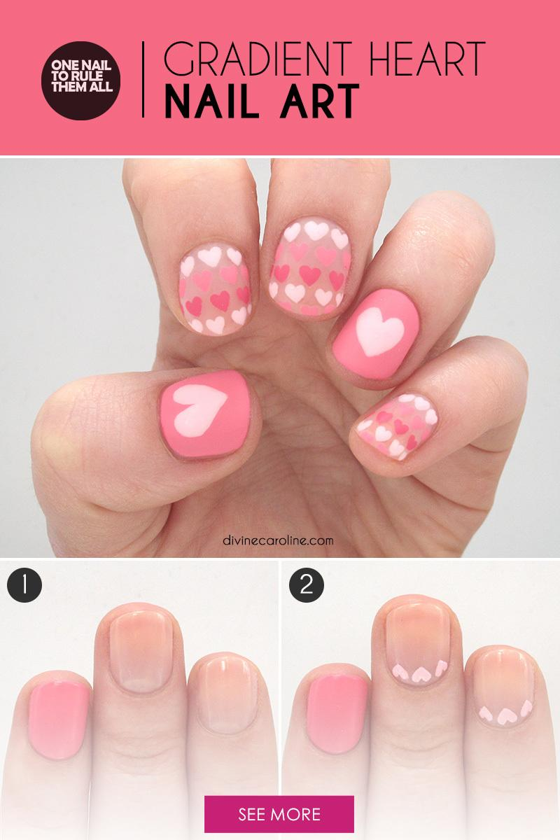 Sweet heart nail art to fall in love with more prinsesfo Image collections