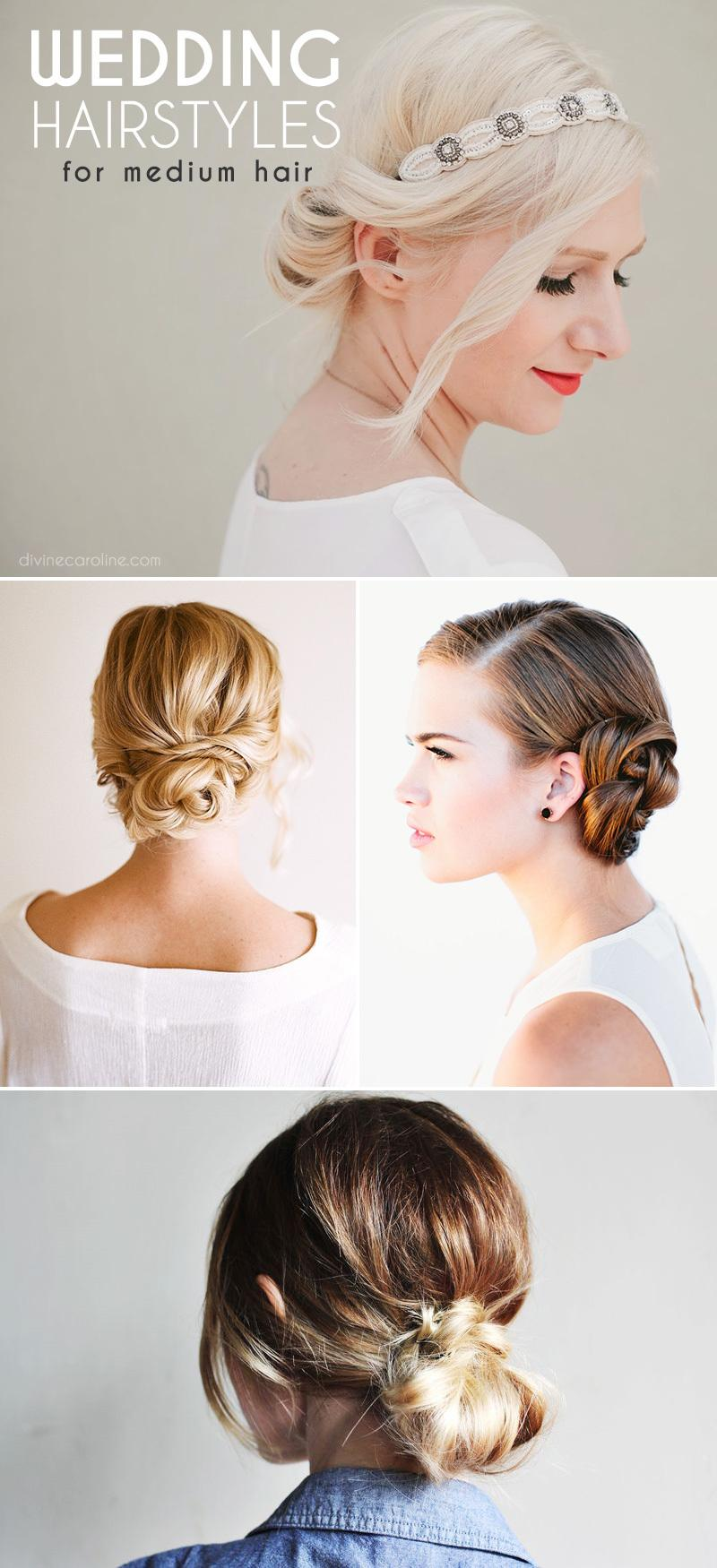 Tremendous Stunning Wedding Hairstyles For Medium Length Hair More Com Hairstyle Inspiration Daily Dogsangcom