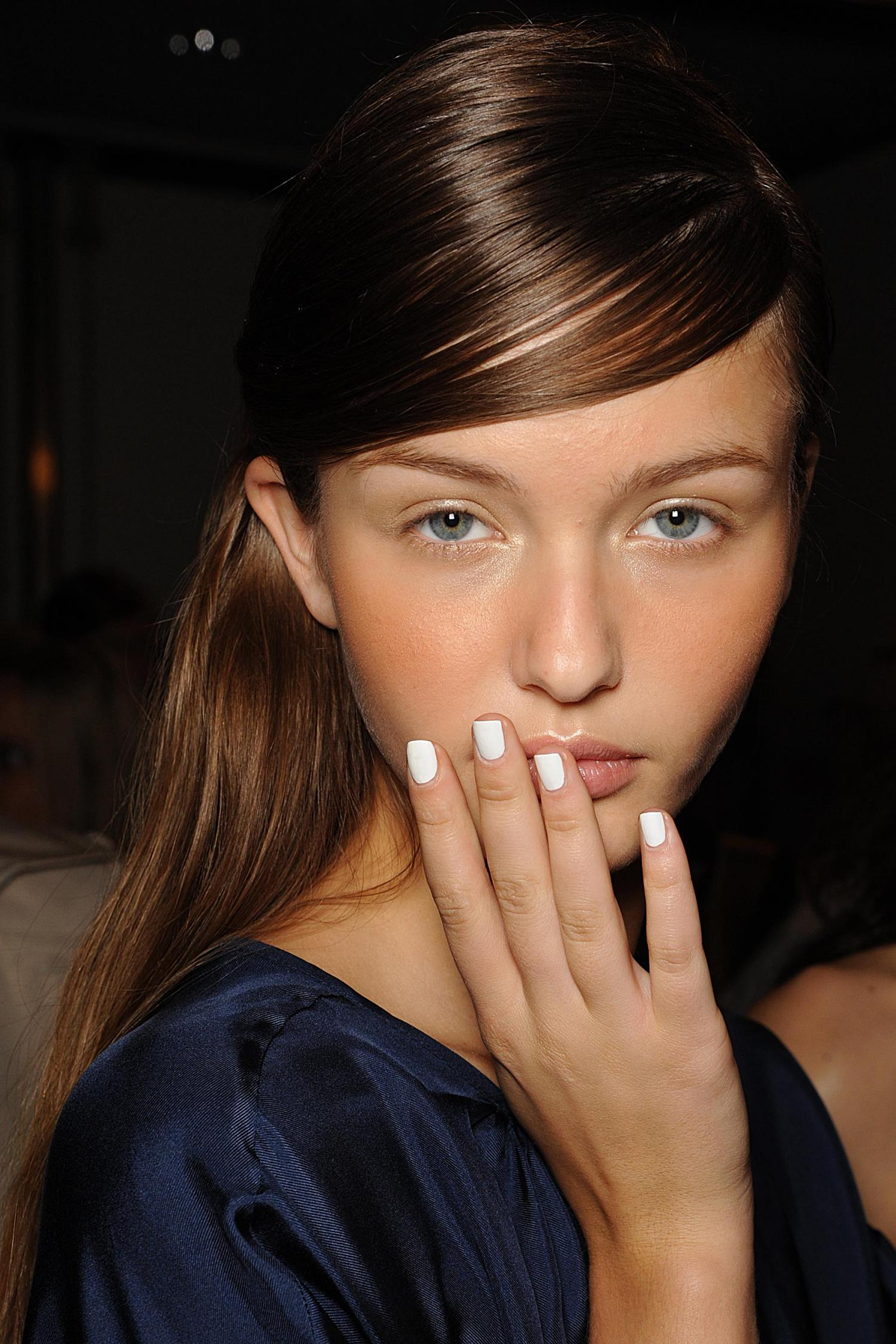 NYFW: Simple White Nails by butter LONDON on the Band Of Outsiders Runway