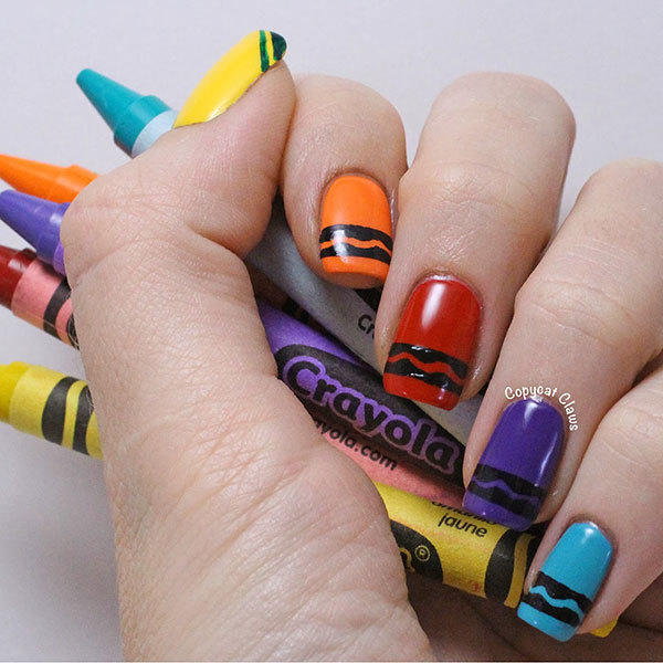 School-Theme Nail Designs That Make Us Want to Hit the Books | more.com - School-Theme Nail Designs That Make Us Want To Hit The Books