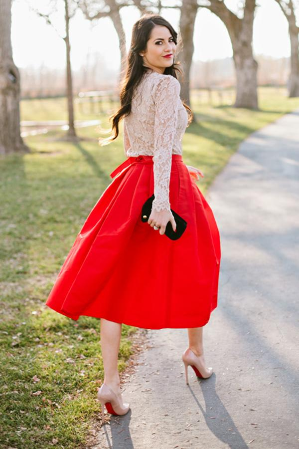 4 Ways To Wear Tea Length Skirts More Com