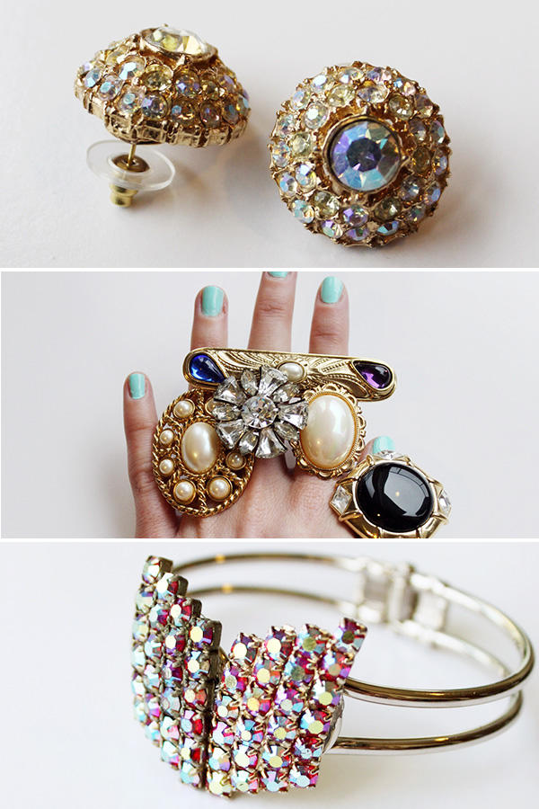 3 ways to repurpose vintage jewelry for Vintage costume jewelry websites