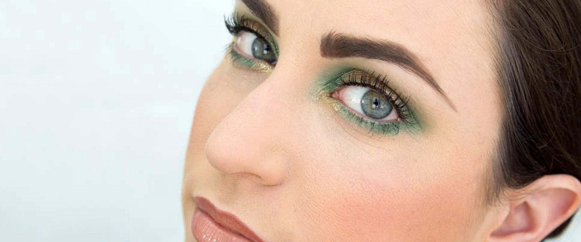 st. patrick's day makeup in gold and green