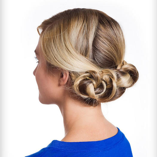 40 updo hairstyles for this prom season more triple braided bun pmusecretfo Image collections