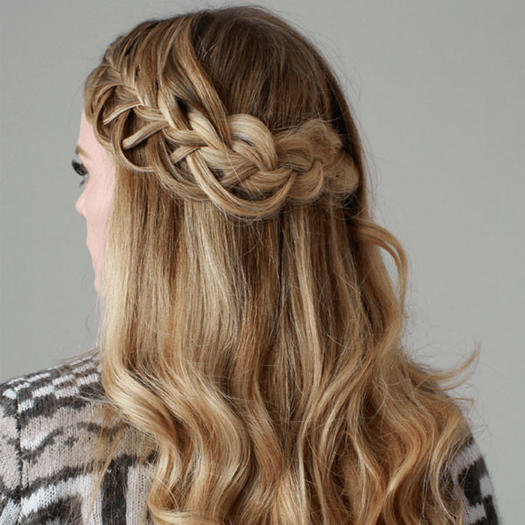 gallery for prom hairstyles medium hair with braid. Black Bedroom Furniture Sets. Home Design Ideas