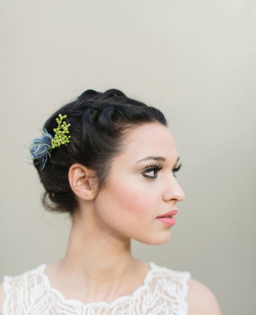 Prom Hairstyles For Short Hair beachy waves Accessorized Updo