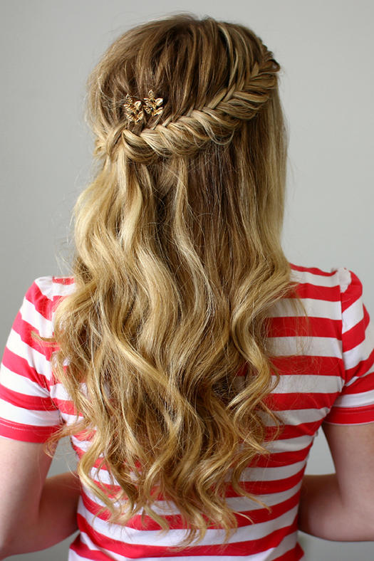 Half Up Fishtail French Braids