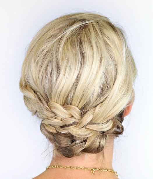 30 best prom hairstyles for short hair more braided updo pmusecretfo Image collections