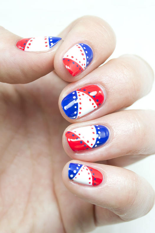 15 patriotic 4th of july nails more red white and blue pennant nails prinsesfo Gallery