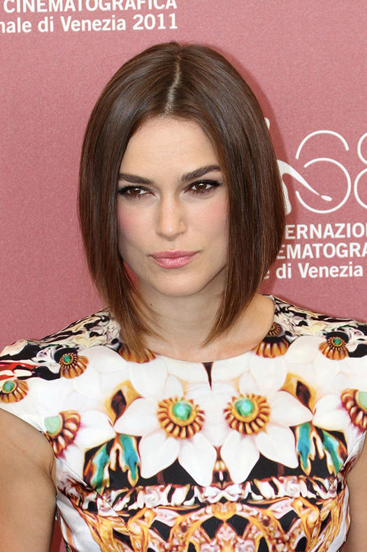 Flattering short hairstyles for round faces more keira knightley urmus Choice Image